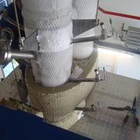 Wärmedämmung Reaktor - mit ca. 1000°C